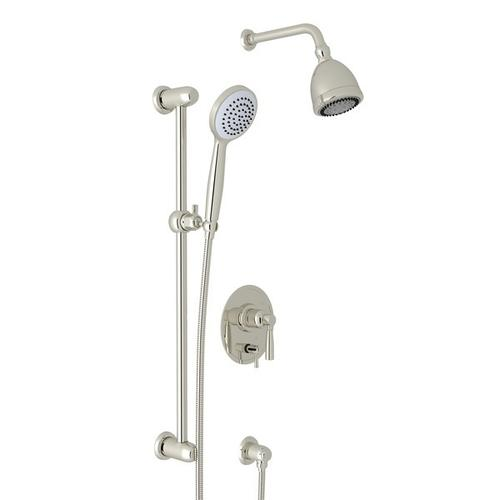 Polished Nickel Holborn Pressure Balance Shower Package with Holborn Metal Lever