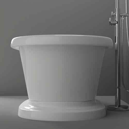 "Carrie 57"" Acrylic Double Roll Top Tub on Base - Tap Deck - No Drillings"