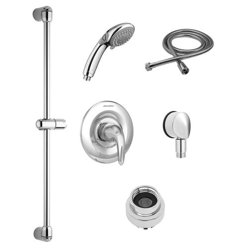 American Standard - Commercial Shower System Kit with Hand Shower for Flash Rough-in Valves - 1.5 GPM  American Standard - Polished Chrome