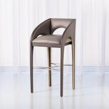 See Details - Arches Bar Stool-Grey Leather