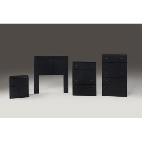 Black 4 Drawer Chest (Net Price)