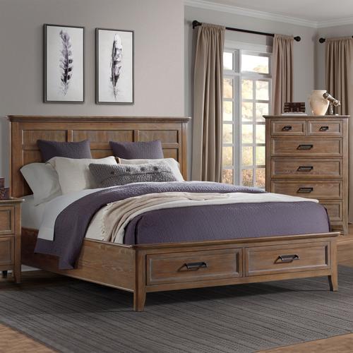 Alta Kind Storage Bed  Harvest