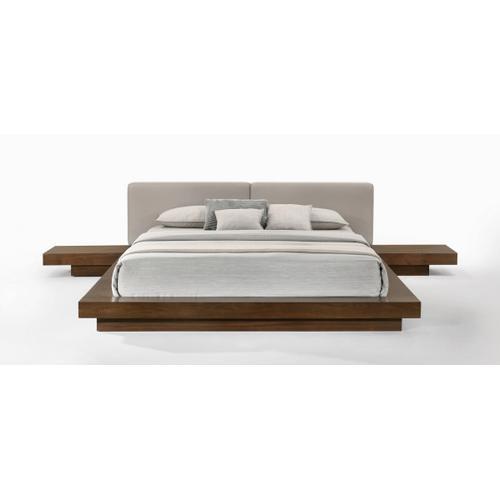 VIG Furniture - Modrest Tokyo - Contemporary Walnut and Grey Platform Bed