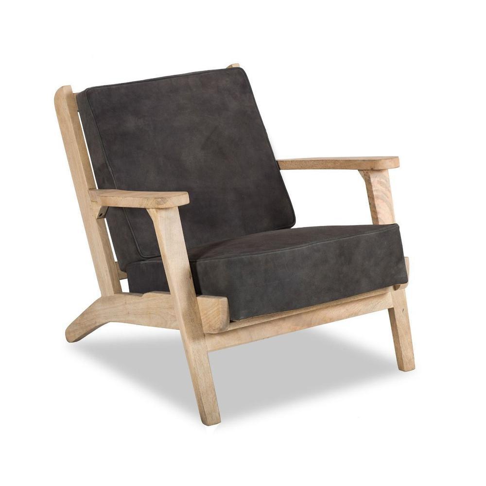 Dallas Inwood Chair Asphalt Suede