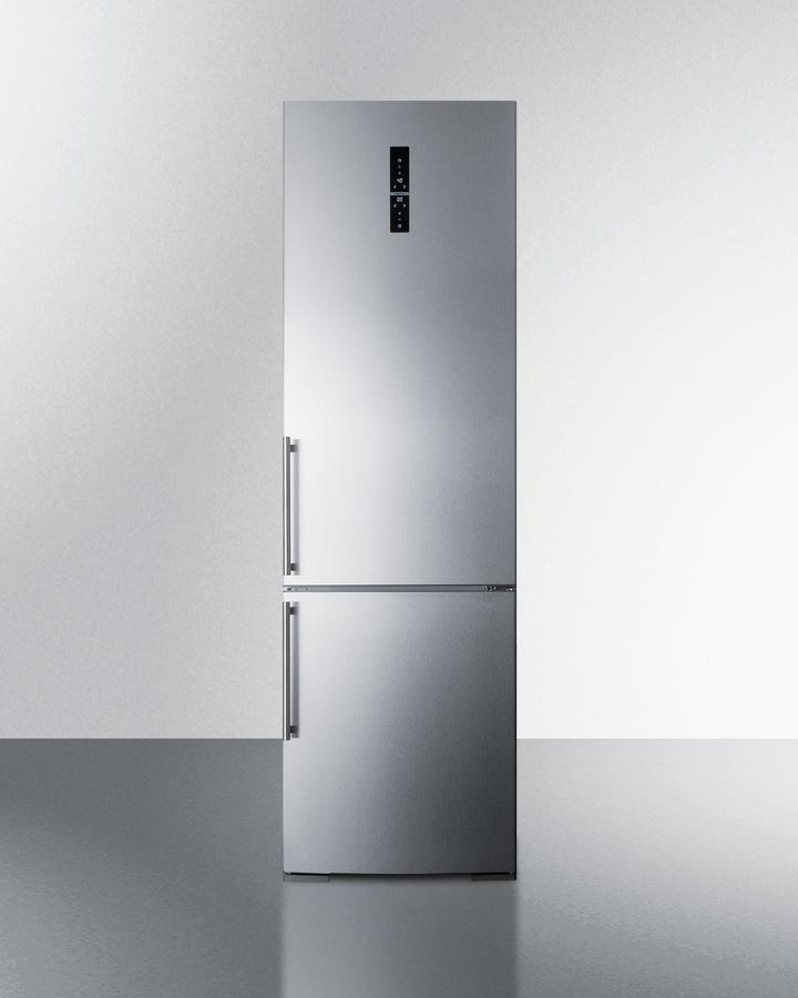 "Summit24"" Wide Built-In Bottom Freezer Refrigerator With Icemaker"