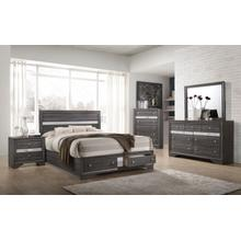 Logan Queen 4PC Bedroom Set, Gray