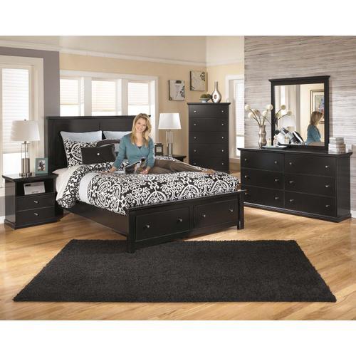 Maribel Bedroom Mirror Black