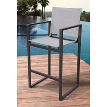 View Product - Renava Kayak - Modern Charcoal Outdoor Bar Stool