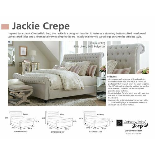 JACKIE - CREPE California King Bed 6/0