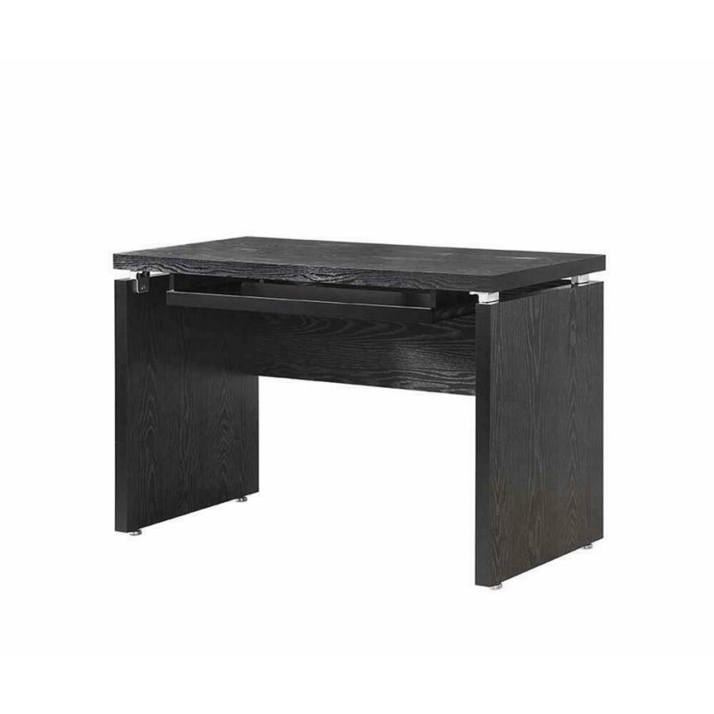See Details - Contemporary Black Oak Computer Desk