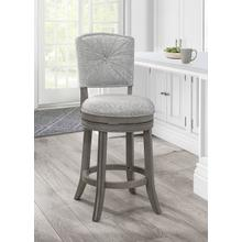Santa Clara II Swivel Counter Height Stool, Antique Gray