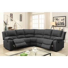 Monique Sectional W/2 Recliners & 3 Drop-Down Tables & Console W/2 Recliners & 3 Drop-Down Tables & Console