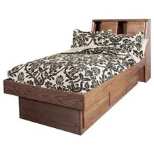 See Details - Forest Designs Bullnose Twin Platform Bed with Bookcase Headboard - Queen