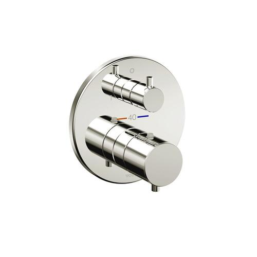 Thermostatic Mixing Valve with Two-way Diverterl Trim - Round - Polished Nickel