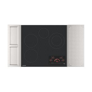 "24"" Drop-In Radiant Cooktop with Side Accessories Product Image"