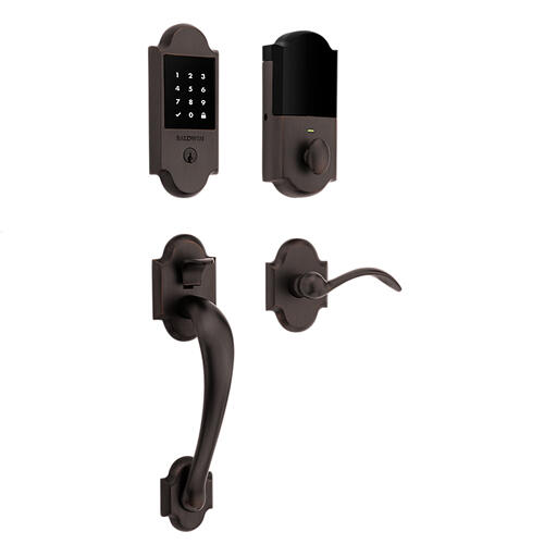 Venetian Bronze Boulder Touchscreen Z-Wave Smart Lock Handleset