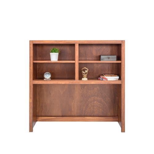 "Mako Wood Furniture - Home Office Hutch for 46"" Desk with 1 Divider & 2 Shelves"