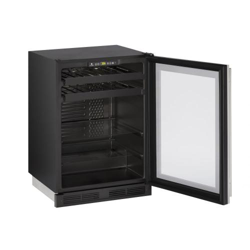 "1224bev 24"" Beverage Center With Stainless Frame Finish (115 V/60 Hz Volts /60 Hz Hz)"