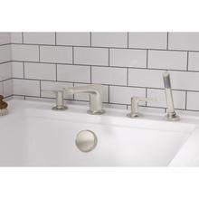 Studio S Deck Mount Tub Filler with Hand Shower  American Standard - Brushed Nickel