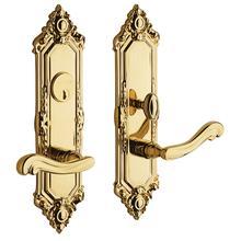 Polished Brass Westminster Escutcheon Entrance Set