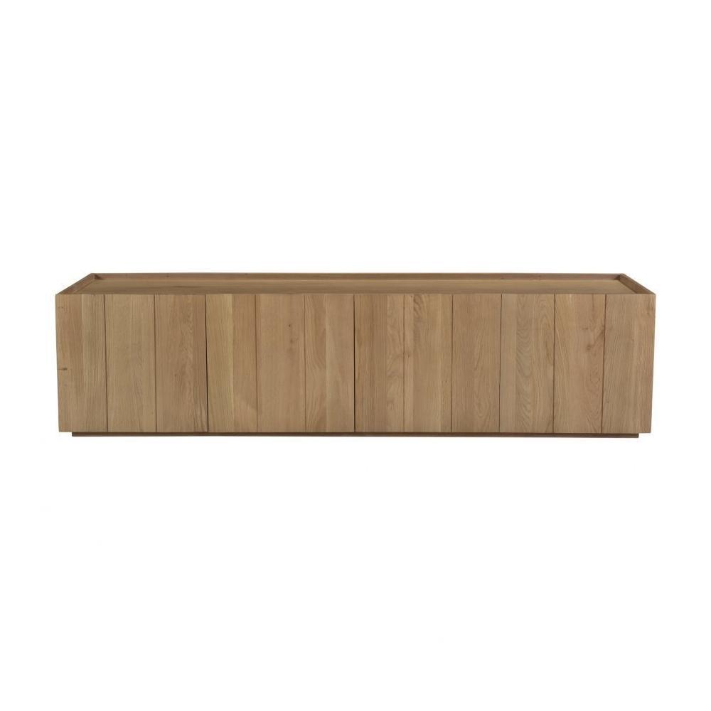 See Details - Plank Media Cabinet Natural