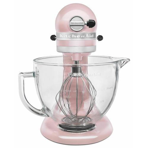 Gallery - Artisan® Design Series 5 Quart Tilt-Head Stand Mixer with Glass Bowl - Silk Pink
