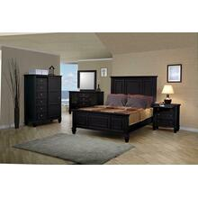 Sandy Beach Black Queen Four-piece Bedroom Set