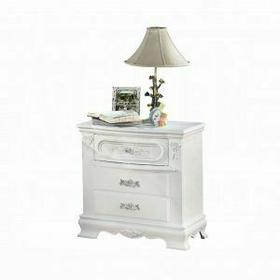 ACME Flora Nightstand - 01663 - White