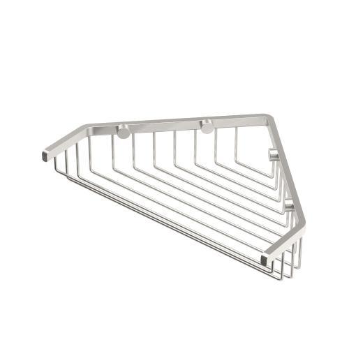 """Corner Shower Basket 9 1/4""""W in Satin Nickel"""