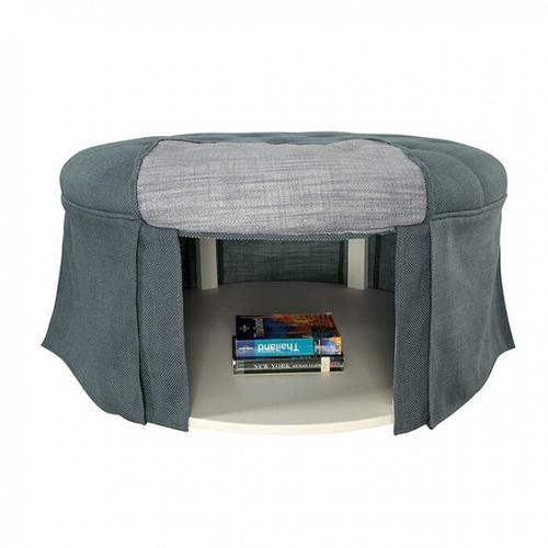 Furniture of America - Claes Round Ottoman