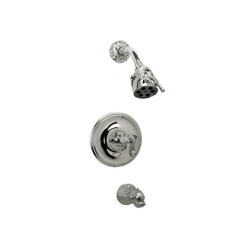 DOLPHIN Pressure Balance Tub and Shower Set PB2101 - Satin Gold with Satin Nickel
