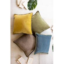 See Details - Velvet Throw Pillow \ Steel Blue