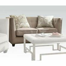 ACME Juliana Loveseat w/2 Pillows - 53586 - Beige Fabric