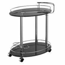 See Details - Inka 2-Tier Bar Cart in Black