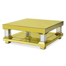 Rectangular Cocktail Table 1363 W/gold Mirror