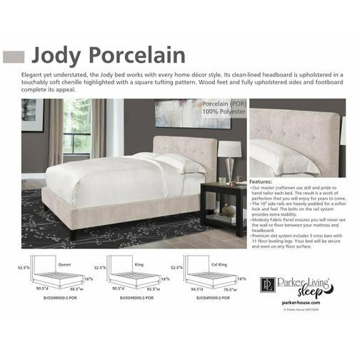JODY - PORCELAIN Queen Bed 5/0 (Natural)