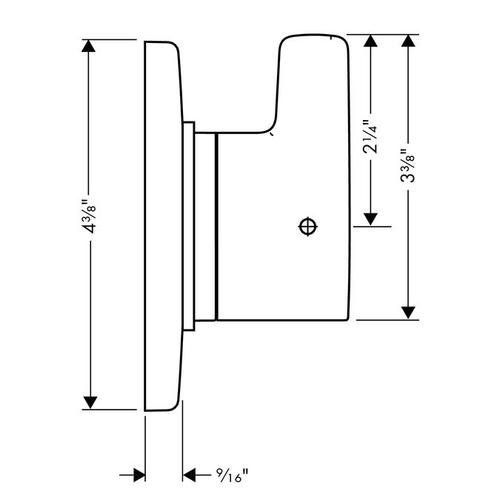 Brushed Nickel Diverter Trim S/E Trio/Quattro