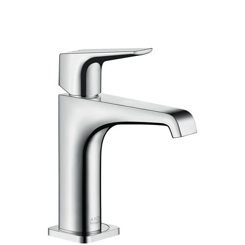 Brushed Nickel Single lever basin mixer 130 with lever handle and waste set