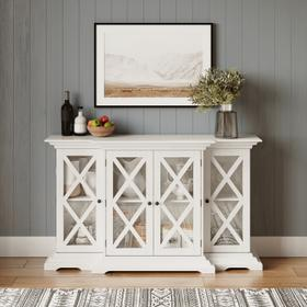 See Details - Carrington Small Breakfront Cabinet - White