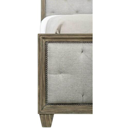 King Canyon Ridge Upholstered Tufted Bed in Desert Taupe (397)