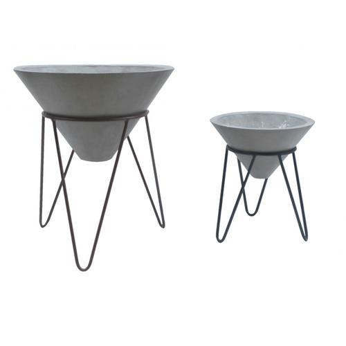 VIG Furniture - Modrest Zora Modern Concrete Small Planter