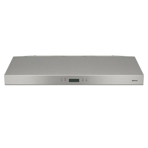 Broan® 30-Inch Convertible Under-Cabinet Range Hood w/ Heat Sentry®, 400 CFM, Stainless Steel