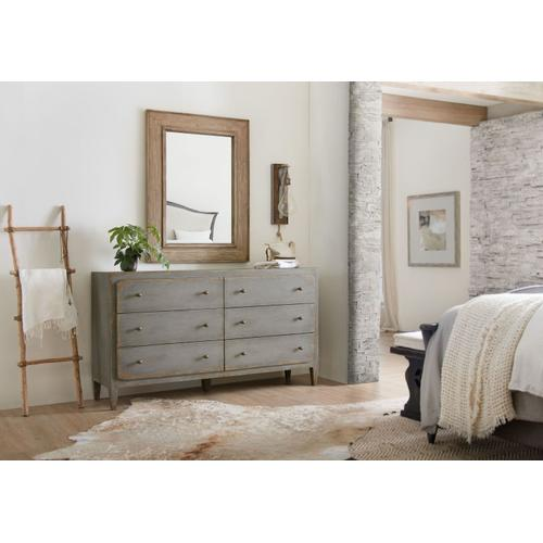Bedroom Ciao Bella Six-Drawer Dresser- Speckled Gray