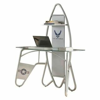 ACME Aeronautic Desk, Silver - 92015