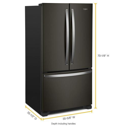 Whirlpool - 36-inch Wide French Door Refrigerator with Water Dispenser - 25 cu. ft.