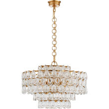 AERIN Liscia 12 Light 25 inch Gild Chandelier Ceiling Light, Medium