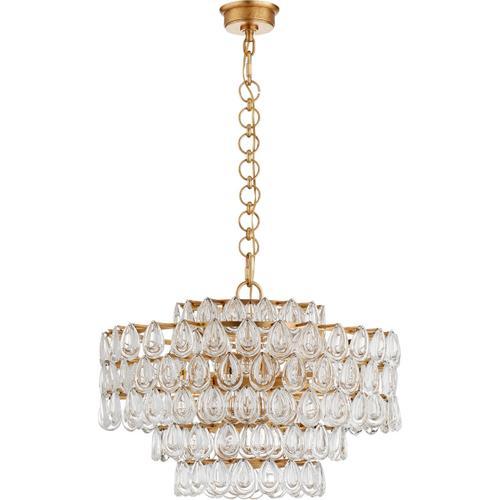 AERIN Liscia 12 Light 25 inch Gild Chandelier Ceiling Light, Medium