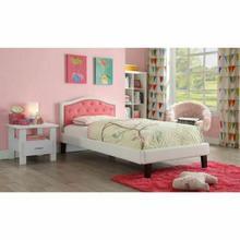 ACME Rheanna Full Bed - 30785F - Pink & White PU