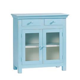Curio Cabinet - Summertime Blue Finish