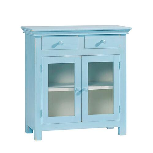 Curio Cabinet - Summertime Blue Finish
